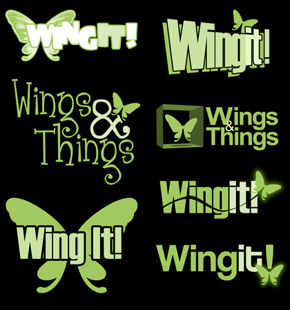 Wing It! Concept Logos
